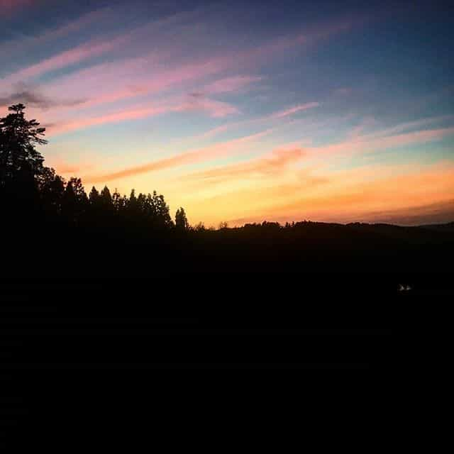 coucher de soleil Ronno